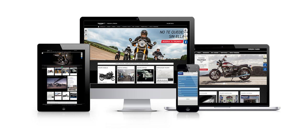 MultiScreen-Motorrad-Websites